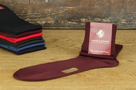 Langer & Messmer Knee-Length Socks Filoscozia Bordeaux UK...