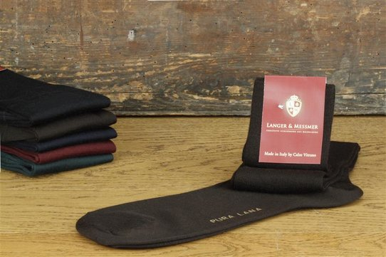 Langer & Messmer Mens Merino Knee-Length Socks Coffee
