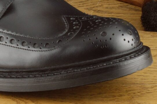 Loake Bedale Black Goodyear Welted Rubber Soles