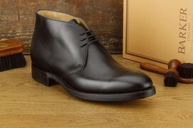 Barker Orkney Black Goodyear Welted Rubber Soles