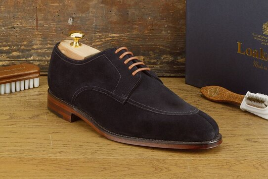 Loake Ealing Blue Suede Goodyear Welted