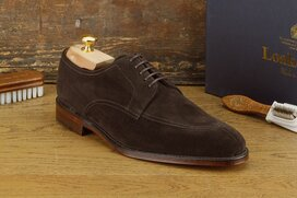 Loake Ealing Dark Brown Suede Size UK 11 Goodyear Welted