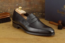 Loake Leven Black UK Size 10.5 Goodyear Welted