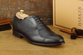 Barker Leeds Black Goodyear Welted
