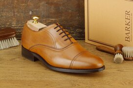 Barker Leeds Tan Size UK 8 Goodyear Welted