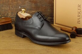 Barker Banbury Black Goodyear Welted with Rubber Sole
