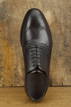 Barker Flore Black Grain Goodyear Welted