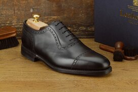 Loake Fleet Black Size UK 8.5 Goodyear Welted Rubber Soles
