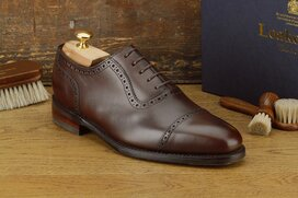 Loake Fleet Dark Brown Size UK 9 Goodyear Welted Rubber...