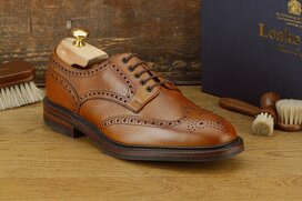 Loake Badminton Mahogany Size UK 8 Goodyear Welted Rubber...