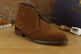 Loake Pimlico Brown Suede Size UK 8.5 Goodyear Welted...