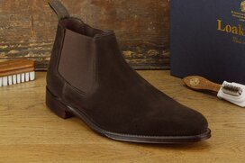 Loake Nene Dark Brown Suede Goodyear Welted