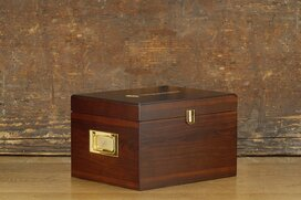 Shoe care valet box Munich brown (with content)