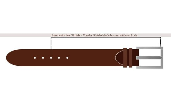 Langer & Messmer Mens Belt Granada Black
