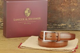 Langer & Messmer Mens Belt Granada Nut - Size 42