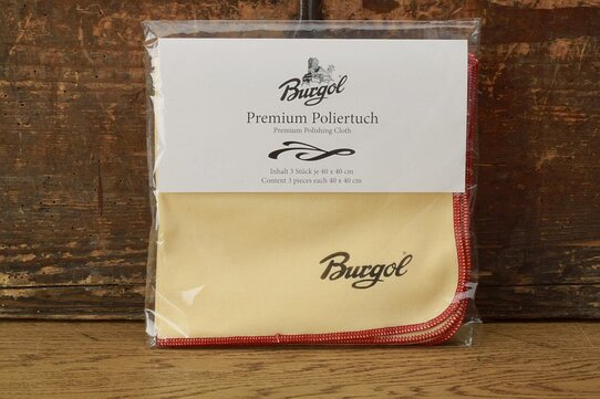 Burgol Set of 3 Premium Cotton Polishing Cloths