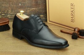Barker Lyle Black Goodyear Welted Rubber Soles