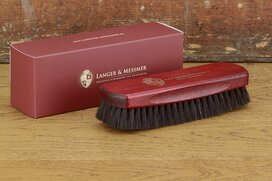 Langer & Messmer Exclusive Goathair Polishing Brush Bordeaux
