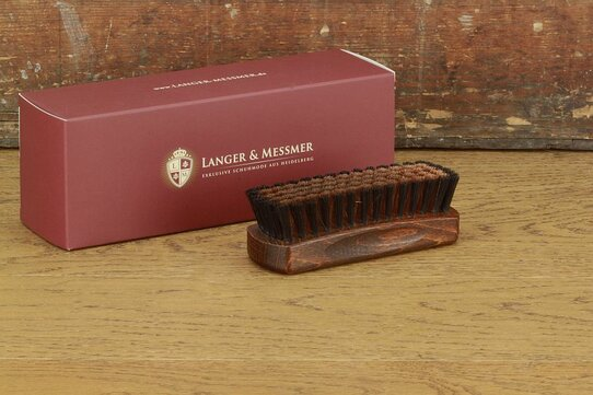 Langer & Messmer Exclusive Boar Hair Polishing Brush with Bronze Bristles