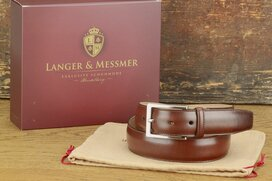 Langer & Messmer Mens Belt Granada Chestnut - Size 34