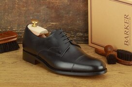Barker Morden Black Goodyear Welted
