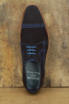 Barker Ashton Navy Blue Suede Goodyear Welted