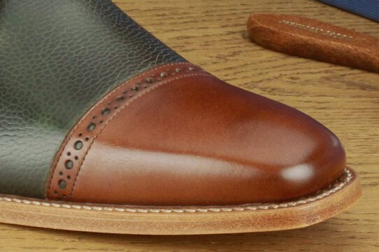 Barker Ashton Walnut / Green Grain Goodyear Welted