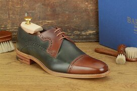 Barker Ashton Walnut / Green Grain Size UK 7 Goodyear Welted