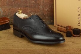 Barker Malton Black Goodyear Welted Dainite Wide Fit