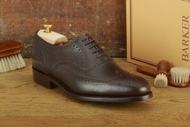 Barker Malton Espresso Goodyear Welted Dainite Wide Fit