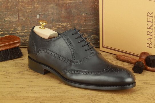 Barker Valiant Black Goodyear Welted