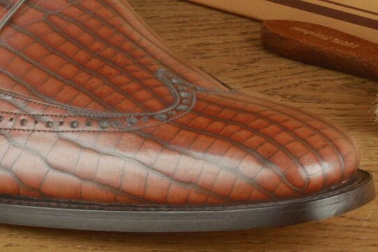 Barker Pitt Brown Stamped Goodyear Welted