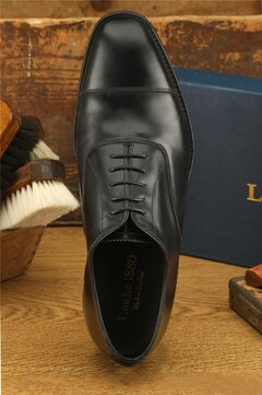 Loake Aldwych Black Goodyear Welted Rubber Soles Wide Fit