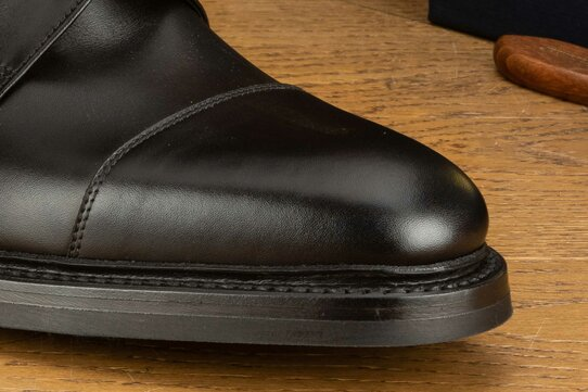 Loake Roehampton Black Goodyear Welted Rubber Soles