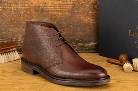 Loake Lytham Oxblood Grain Goodyear Welted Rubber Soles