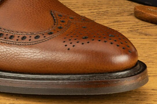 Loake Birkdale Brown Grain Goodyear Welted Rubber Soles