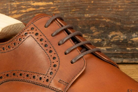 Loake Wembley Mahogany Goodyear Welted Rubber Soles