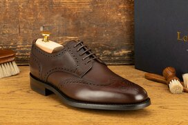Loake Wembley Dark Brown Goodyear Welted Rubber Soles