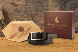 Langer & Messmer Mens Belt Heidelberg Espresso